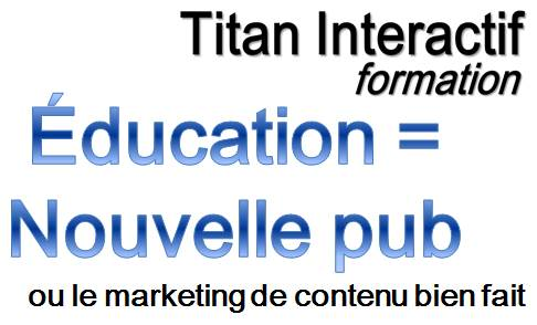 L'Éducation est la nouvelle publicité